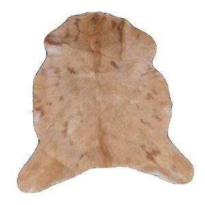 "New Genuine Goat Rug Area Rug Carpet Leather Rug Animal Rug Hide (31""x25"")-M9"
