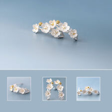 Female Jewelry National Retro Women Plum Blossom Ear Stud Earrings Fashion