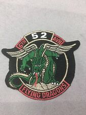 """US ARMY PATCH-6th AVN 52 COMBAT Flying"""" Dragons"""