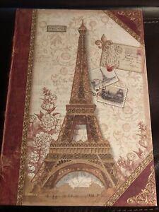 """Punch Studio LARGE """"Paris Eiffel Tower"""" Stash Hide Storage Box Accent Decor"""