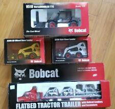 Bobcat Die Cast Models VersaHandler Skid Steer Flatbed Tractor Trailer