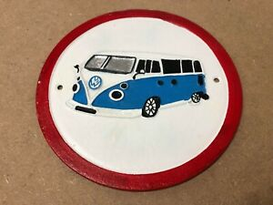 Cast Iron VW Camper Van Sign   Vintage Style Door Wall Automobile Car Plaque
