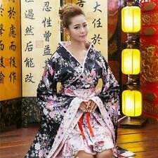 Kimono Japanese Lolita Maid Uniform Outfit Anime Cosplay Party Costume Dress