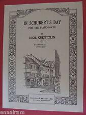 In Schubert's Day Op 109 Rich Krentzlin, Ella Ketterer 1925 piano solo