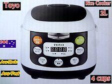 TOYO Fuzzy Logic Multi-Function Rice Cooker - Heavy Duty Inner Pot 4 cups MBFS20