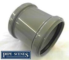 """Repair Coupler 4"""" 110mm Soil Pipe Coupling Slip Type Joiner Grey"""