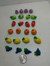 24 Pcs Of mixed Fruit  Dollhouse Decor  Food