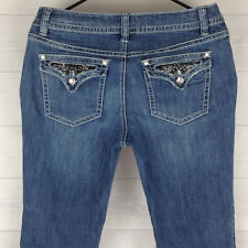 ff92be02d37 APT 9 Lace Embellished Women s Size 8 Blue Medium Wash Flap Pocket Bootcut  Jeans