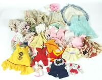 Vintage Lot of dolls, animals and other toys Clothing Many Pieces!