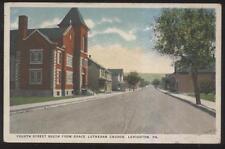 Postcard LEHIGHTON Pennsylvania/PA  4th St South Church & Houses/Homes 1910's