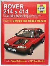 1689 Rover 214 414 1989 - 1996 Petrol Haynes Service and Repair Manual