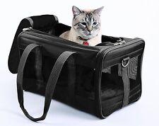 Dog Puppy Cat Hamster Comfort Pet Carrier Airline Carry-on Travel Tote Bag Black