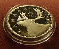 PL Frosty! 1987 Canada 25 Twenty Five Cent Supremely Nice Specimen. with Holder.