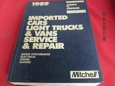 1989 Mitchell Manuals Imported Cars Light Trucks Vans Acura To Jaguar
