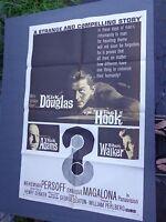 *  -THE HOOK-1 sheet movie poster-KIRK DOUGLAS-ROBERT WALKER -1968