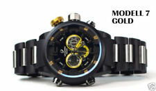 Relojes de pulsera digitales de oro de alarma