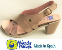 Heel Sandals Leather. Wanda Panda Shoes Made in Spain - Waldina