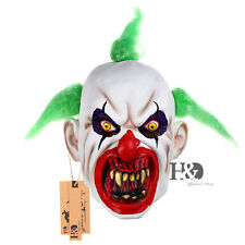 Adult Scary Clown Horror Halloween Latex Mask Fancy Party Full Head Costume Prop