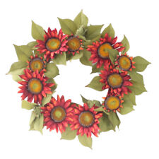 Arch Front Door Wall Hanging Decor Wreath Garland Synthetic Sunflower Plants