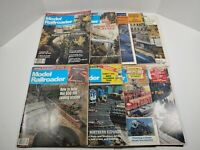 Vintage 1986 Model Railroader Magazine Lot Of 9