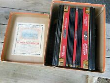Vintage Hohner Accordion in Orig. Box 1 Row 3 Bass w/ manual 1904 Gold Medal Mad