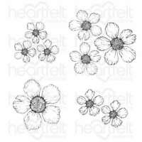 Heartfelt Creations Cling Rubber Stamp Set Wild Rose -Small Rose 817550024611