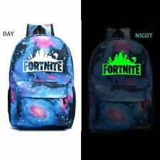 Fortnite Highlights Backpack  school bag camping blue Glo in Dark FREE Keychain