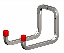 !NEW! DOUBLE Wall Hook Storage STRONG Metal Ladder Tools Garage Shed Bike Hooks