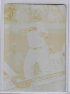 2017 Topps S1 Carlos Santana Yellow Printing Plate 1/1 Cleveland Indians
