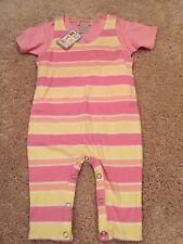 ZUTANO Baby 0-3 Mos Girls Pink Short Sleeve T Shirt & Romper Pant Set NWT