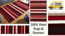 Kitchen Striped 100% Wool Rugs