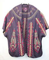 Johnny Was Embroider Womens Size XLarge Brown Cardigan Sweater EUC