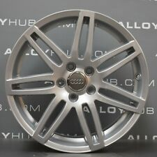 "GENUINE AUDI A3 8P BLACK EDITION S-LINE SILVER 18"" INCH ALLOY WHEEL x 1"