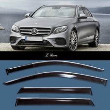 Chrome Trim Side Window Visors Guard Vent Deflectors Mercedes E Sd W213 2016-18
