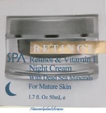 NIB Spa Cosmetics Spa Retinol & Vitamin E Night Cream w/Dead Sea Minerals, 1.7oz
