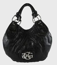 "** GUESS ""NEW YORK"" Black Faux Leather Tote Bag Msrp $128.00"