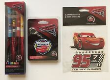 Cars 3 Lot Scented Colored Pencils Keychain Stickers Lightning McQueen New