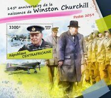 Centrale Africa - 2019 Winston Churchill - Souvenir Foglio - CA190210b