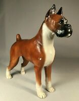 RIC CHASHOUDIAN VINTAGE FIGURINE OF A FAWN BOXER DOG, 1979, OUTSTANDING!