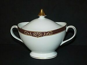 Royal Doulton Tennyson H5249 Two Handled Covered Sugar Bowl VGC First Quality