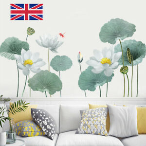 Lotus Flower Chinese Calligraphy Wall Stickers Vinyl Decal Home-Decor Art UK