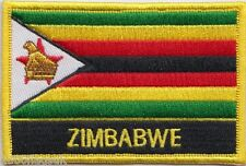Zimbabwe Flag Embroidered Patch Badge - Sew or Iron on