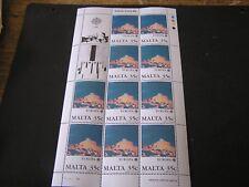 MALTA, SCOTT # 695(10), S/S 1987 35c. VALUE EUROPA(10 STAMPS) ISSUE MNH