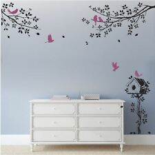 Wall Stickers custom bird branch letterbox  large kids nursery home vinyl decal