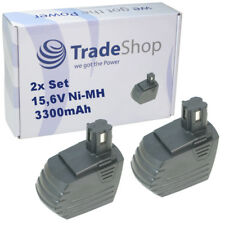 2x Trade-shop batterie 15,6 V 3300 mAh Pour Hilti sf150a sf151 sf151-a sf151a sfl12/15