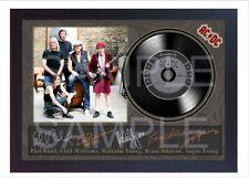 NEW! ACDC Black Ice MUSIC SIGNED FRAMED PHOTO LP Vinyl