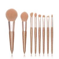 Jessup NEW Makeup Brushes Powder Blush Eyeshadow Contour 8Pcs Set Beauty Gold