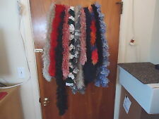 Mixed Lot Of 12 Frilly Type Of Scarves Of Various Types,Sizes,Brands,Colors,etc.
