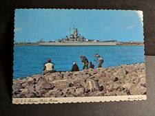 Battleship Uss Alabama Bb-60 Naval Cover unused postcard Mobile, Alabama