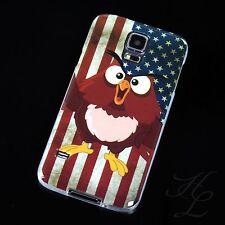 Samsung Galaxy S5 / S5 NEO Silikon Case Schutz Hülle Etui USA Flagge Eule Owl